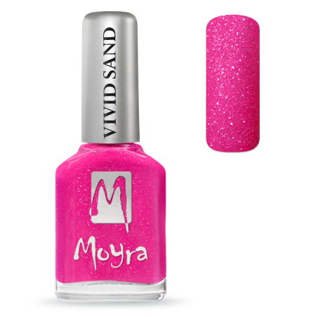 MOYRA VIVID SAND EFFECT KÖRÖMLAKK 711 Party Pink 12 ml